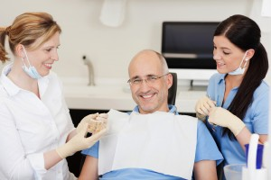 Shutterstock Happy Male Patient with Staff