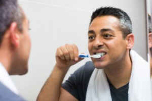 toothbrushing man learns 5 tips from brampton dentist
